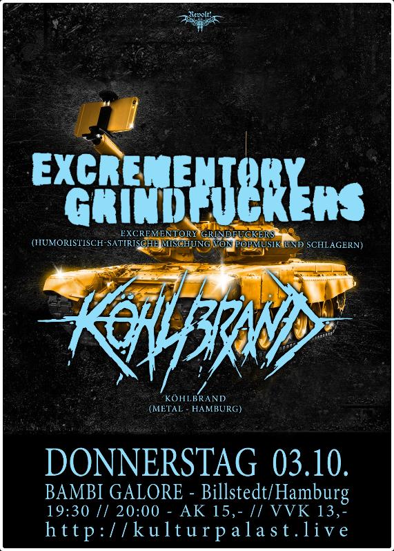 Link zu der Veranstaltung Revolt! Excrementory Grindfuckers,...